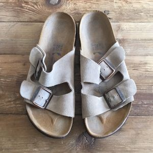 Birkenstock Betula Arizona Tan Suede Sandals